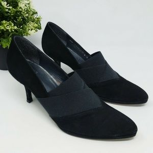 Stuart Weitzman Pumps Black Suede Heels Shoes 7.5